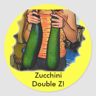 """Don't Hate My """"Double Z"""" Zucchinis! Sticker"""