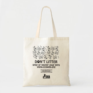 Don t Litter Canvas Tote Bag