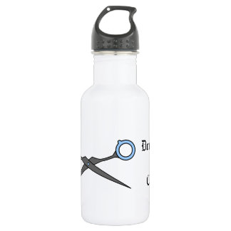 Don't Make Me Cut You (Blue Hair Cutting Scissor) Stainless Steel Water Bottle