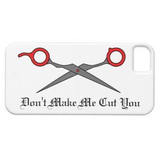 Don't Make Me Cut You (Red Hair Cutting Scissors) iPhone 5 Case