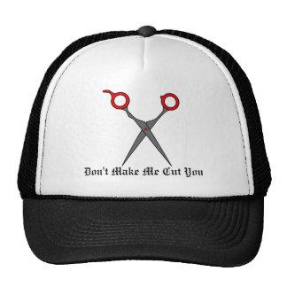 Don't Make Me Cut You (Red Hair Cutting Scissors) Trucker Hat