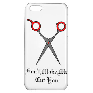 Don't Make Me Cut You (Red Hair Cutting Scissors) iPhone 5C Covers