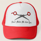 Don't Make Me Cut You (Red Hair Cutting Scissors) Trucker Hat