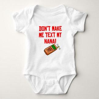Don't Make Me Text My Nana Baby Bodysuit