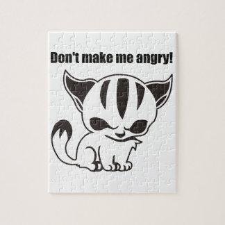 don t me make angry Kitty Rompecabeza Con Fotos