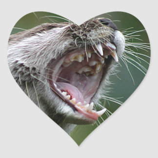 Don`t Mess With The Otter Heart Sticker