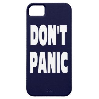 Don t Panic Dark Blue IPhone 5 Case