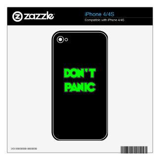 Don t Panic iPhone 4 Skins