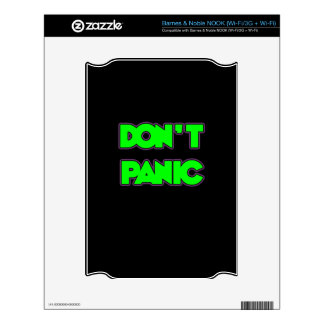 Don t Panic Decals For NOOK