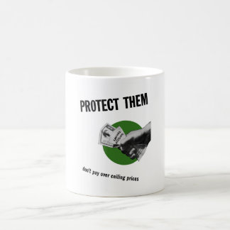 Don't Pay Over Ceiling Prices -- WW2 Coffee Mug