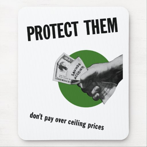 Don't Pay Over Ceiling Prices -- WW2 Mouse Pad