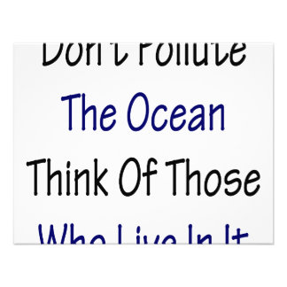 Don t Pollute The Ocean Think Of Those Who Live In Personalized Invites