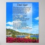 Don't Quit Poem Poster