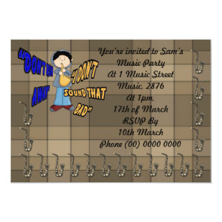 Don't Run Away I Don't Sound That Bad 5x7 Paper Invitation Card