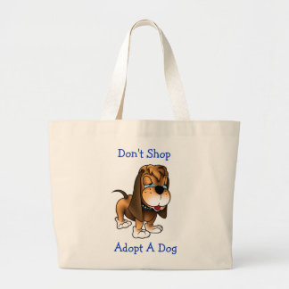 Don t Shop Adopt A Dog Hound Jumbo Tote Bag