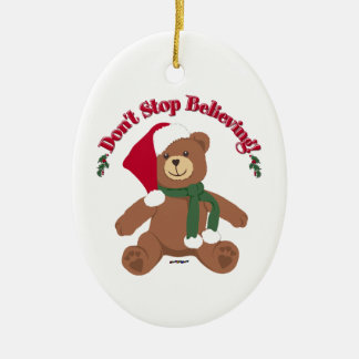 Don t Stop Believing Christmas Bear Christmas Tree Ornaments