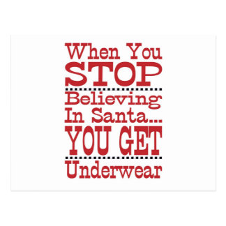 Don t Stop Believing in Santa Post Card