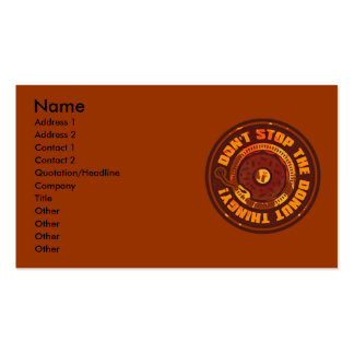 DON T STOP THE DONUT THINGY BUSINESS CARD