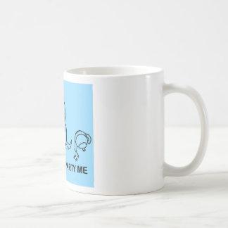 Don t Tea Party Me - blue Coffee Mugs