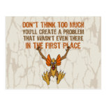 Don't think too much postcard