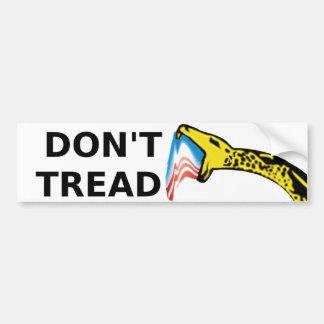 Don t Tread Bumper Sticker