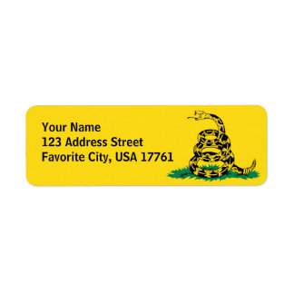 Don t Tread On Me Address Labels