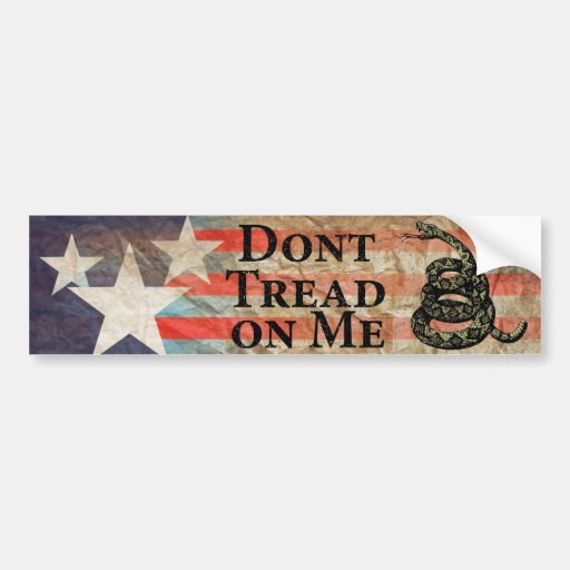 Don't Tread on Me Car Bumper Sticker