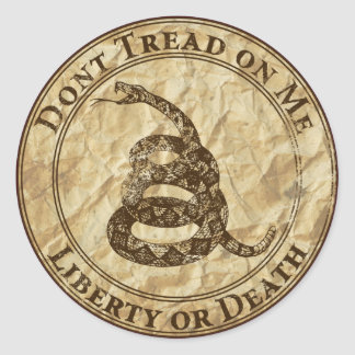 Don't Tread on Me Classic Round Sticker