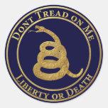 Don't Tread on Me Classic Round Sticker