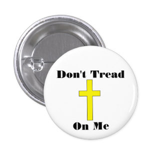 Don t Tread On Me - Cross - Religious Freedom Pin
