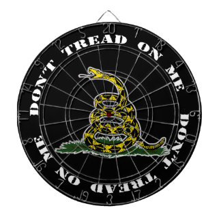 Don't Tread On Me Dart Board (Black)