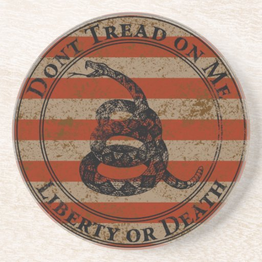 Don T Tread On Me Drink Coaster Zazzle