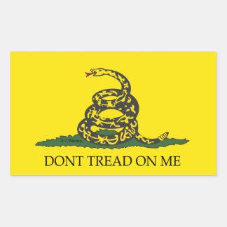 Don t tread on me -Gadsten Flag Rectangular Sticker