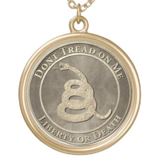 Don't Tread on Me Gold Plated Necklace
