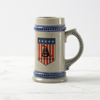 Don't Tread on Me 18 Oz Beer Stein