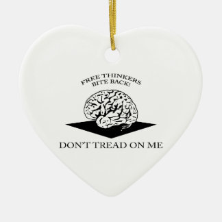 Don't tread on me Double-Sided heart ceramic christmas ornament