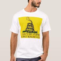Don't Tread On Me Parody Mens T-Shirt