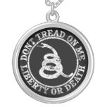 Don't Tread on Me Personalized Necklace