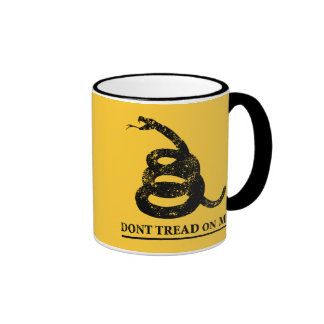 Don't Tread on Me Ringer Coffee Mug