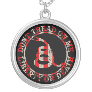 Don't Tread on Me Silver Plated Necklace