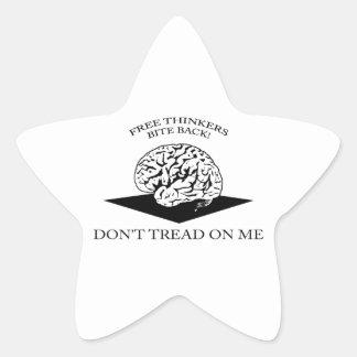 Don't tread on me star sticker
