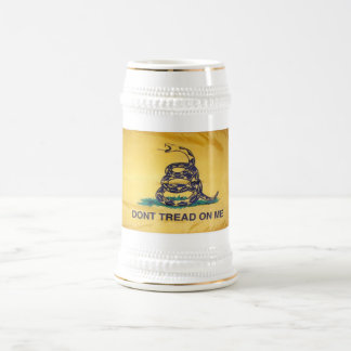 Don't Tread On Me Tea Party Flag Beer Stein 18 Oz Beer Stein