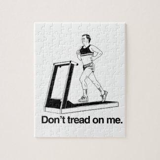 Don t tread on me treadmill jigsaw puzzle