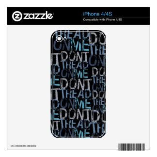 Don t Tread On Me Typographic Skins For The iPhone 4S