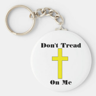 Don t Tread On Me with Cross Freedom Keychain