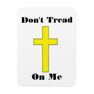 Don t Tread On Me with Cross Religious Freedom Mag Rectangle Magnet