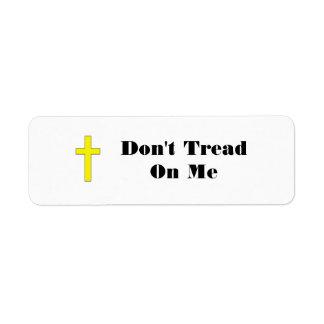 Don t Tread On Me with Cross Sm Envelope Stickers Custom Return Address Label