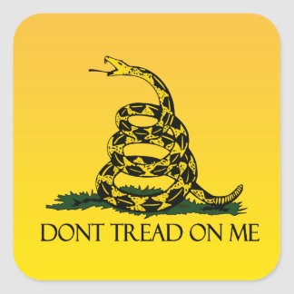 Don t Tread on Me Yellow Gadsden Flag Ensign Stickers