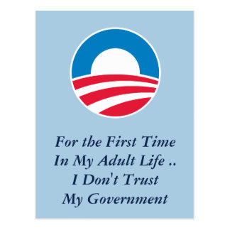 Don t Trust Government Post Card