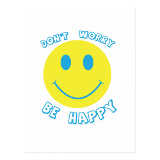 Don t worry be happy postcard
